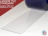 PVC Lamellenvorhang Lamellen Streifenvorhang transparent 20cm breit (Meterware) - 1