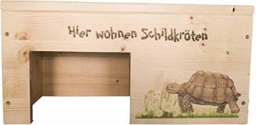 Nagerstore Schildkrötenhaus M Terrarium Schutzhaus mit Motiven, Holzlasur & Aufklappbar - 2