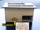 Qualität aus Niederbayern ARBRIKADREX Schildkröte Premium Schildkrötenhaus XXL (L:60cm; B.40cm; H:31cm) mit Sonnendach, Windfang, Einstellbarer Belüftung und Plexiglastor 18mm Vollholz Fichte - 1