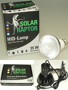 ECONLUX GmbH SolarRaptor HID-Lamp 35 Watt Spot Beam Set inkl. EVG + ClampLamp - 1