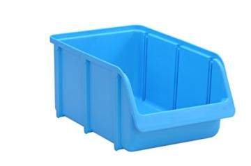 hünersdorff Sichtbox / Stapelbox / Lagerbox in Größe 4, stapelbar, Farbe: Blau - 1