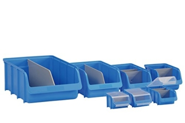 hünersdorff Sichtbox / Stapelbox / Lagerbox in Größe 4, stapelbar, Farbe: Blau - 2