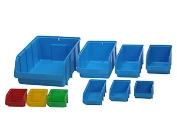 hünersdorff Sichtbox / Stapelbox / Lagerbox in Größe 4, stapelbar, Farbe: Blau - 3