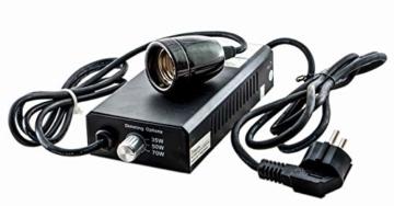 TropicShop Vorschaltgerät für Metalldampflampen wie Solar Raptor, Bright Sun, Dragolux etc. (HQI/HDI) Universal 35/50 / 70w incl. Fassung - 1
