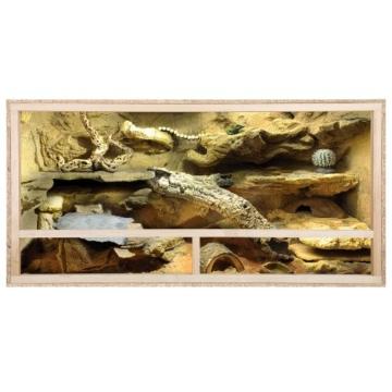 REPITERRA Holz OSB Terrarium 120x60x60cm für Schildkröten Belüftung oberhalb - 2